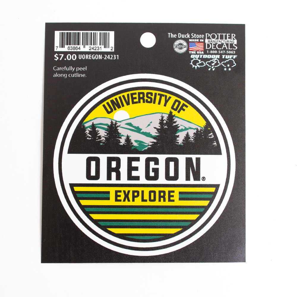 University of Oregon design, Decal